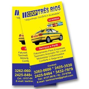 Cartão de visitas - 1000 unidades -  4/0 cores - papel Triplex 250g
