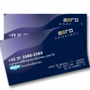 Cartão de visitas UV Localizado - 4x4 cores - 1000 unidades - papel Triplex 250g